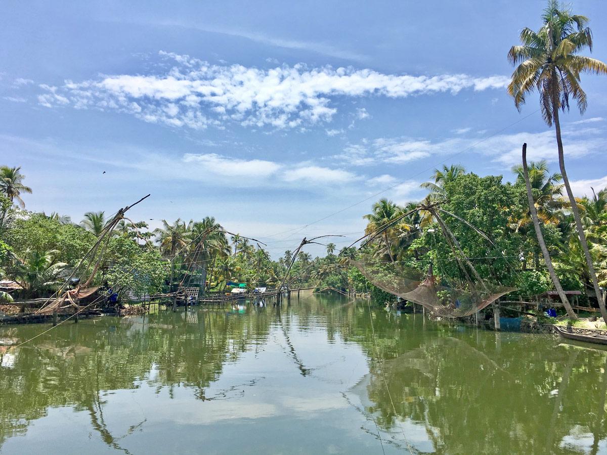 Kerala - chinesische Fischernetze
